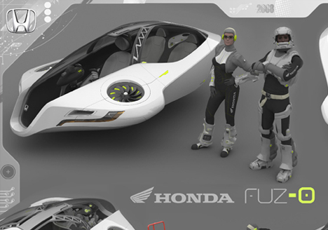 112 Futuristic Honda Fuzo Hover Concept Car Design