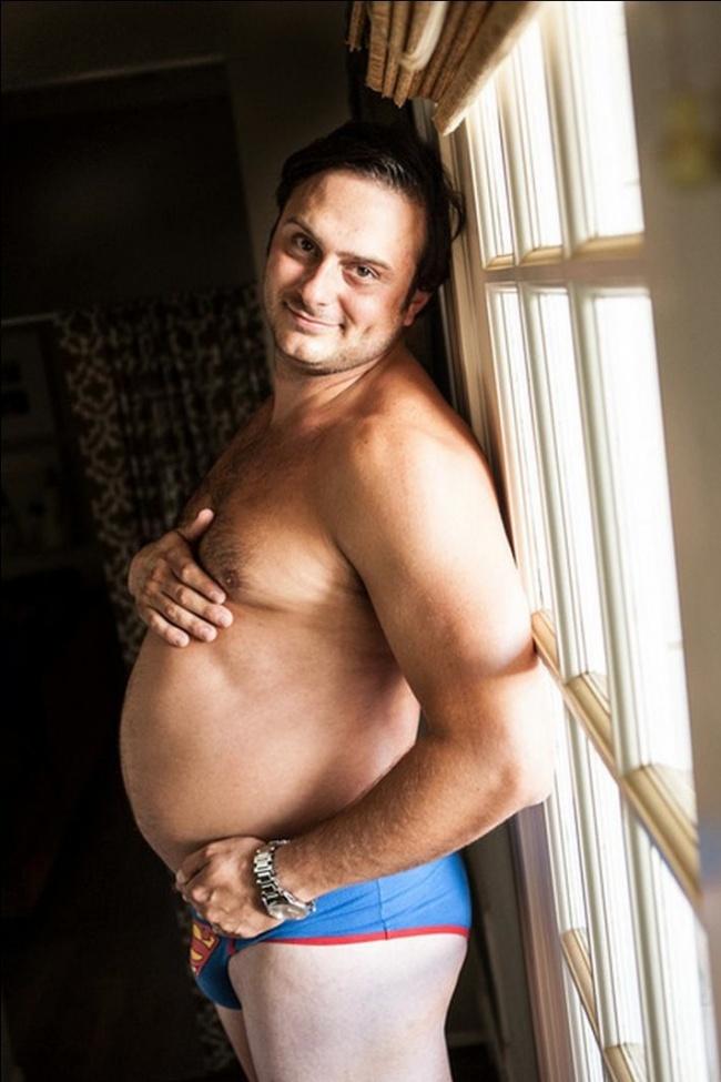 те не искаше да се снима бременна и той го направи вместо нея