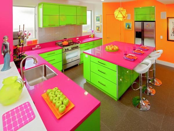 Пъстроцветни кухни в ярки цветове